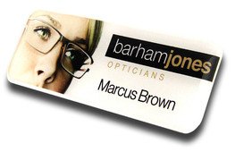 Standard Name Badges - No border and white background | www.namebadgesinternational.us